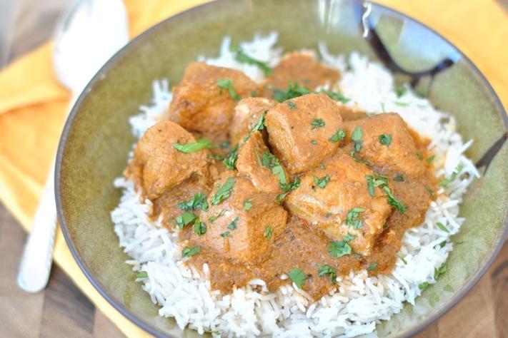 Pollo al curry ed al latte di cocco