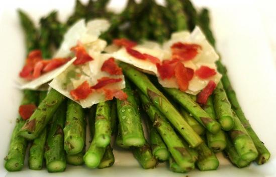 Parmigiana di asparagi  microonde