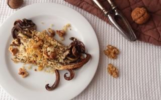Ricetta radicchio al forno con briciole croccanti e noci