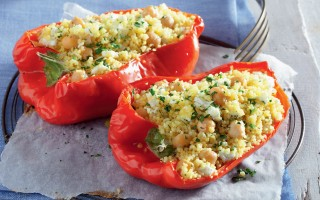 Ricetta peperoni ripieni di ceci e feta