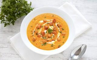 Ricetta vellutata di carote, zenzero e ceci speziati