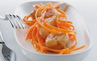 Ricetta carote all'arancia e filetti di coniglio