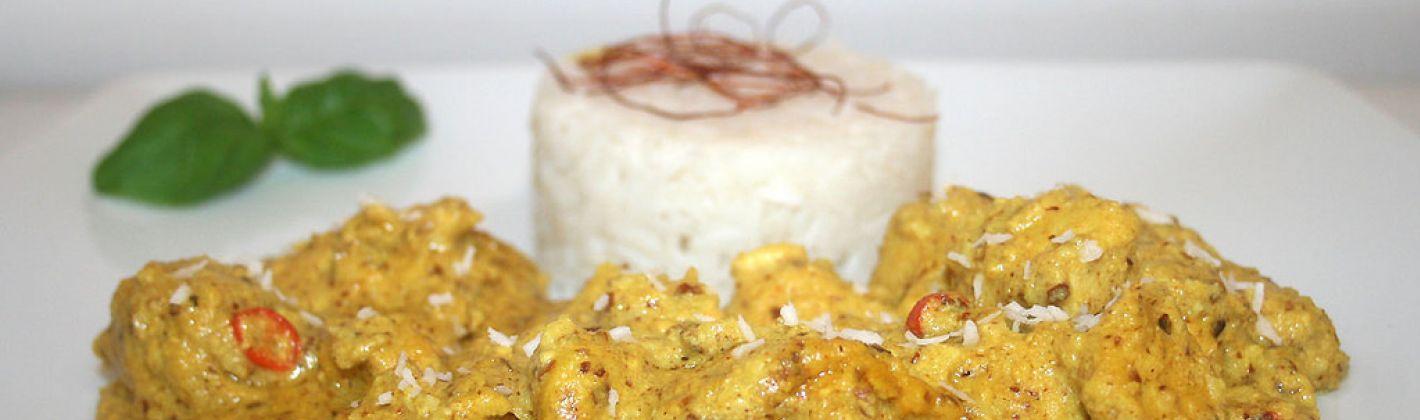 Ricetta pollo al cocco e vaniglia