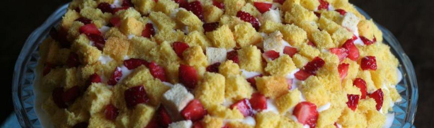 Ricetta trionfo di frutta con pan di spagna e gelato alla crema ...